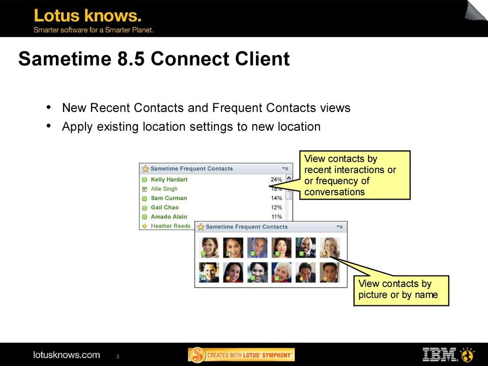 Contacts views Apply existing location settings to new