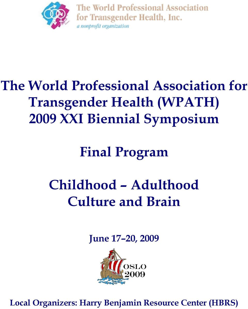 Program Childhood Adulthood Culture and Brain June 17