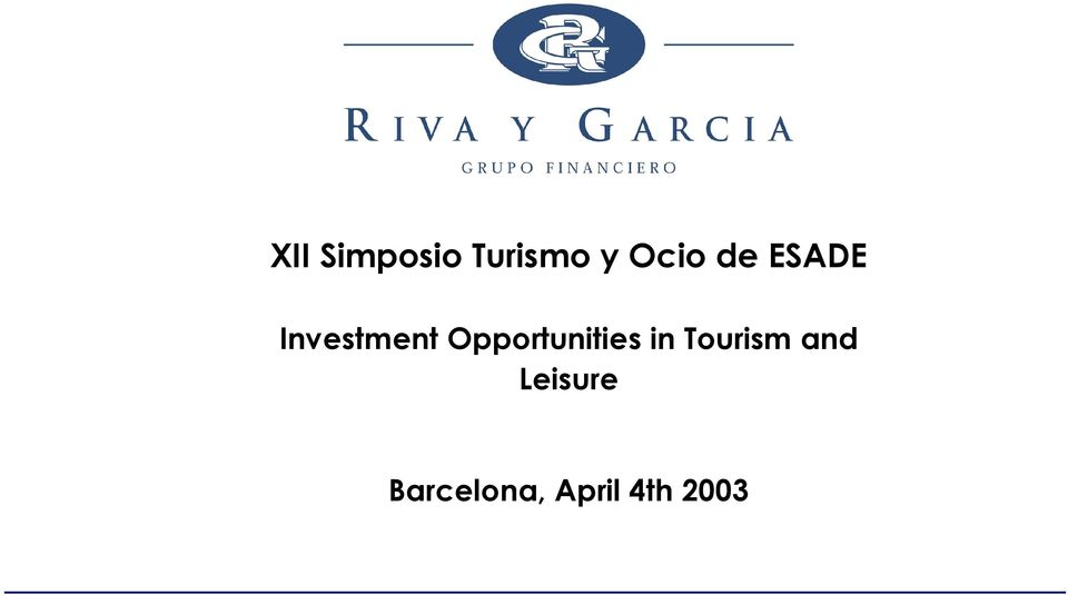 Opportunities in Tourism