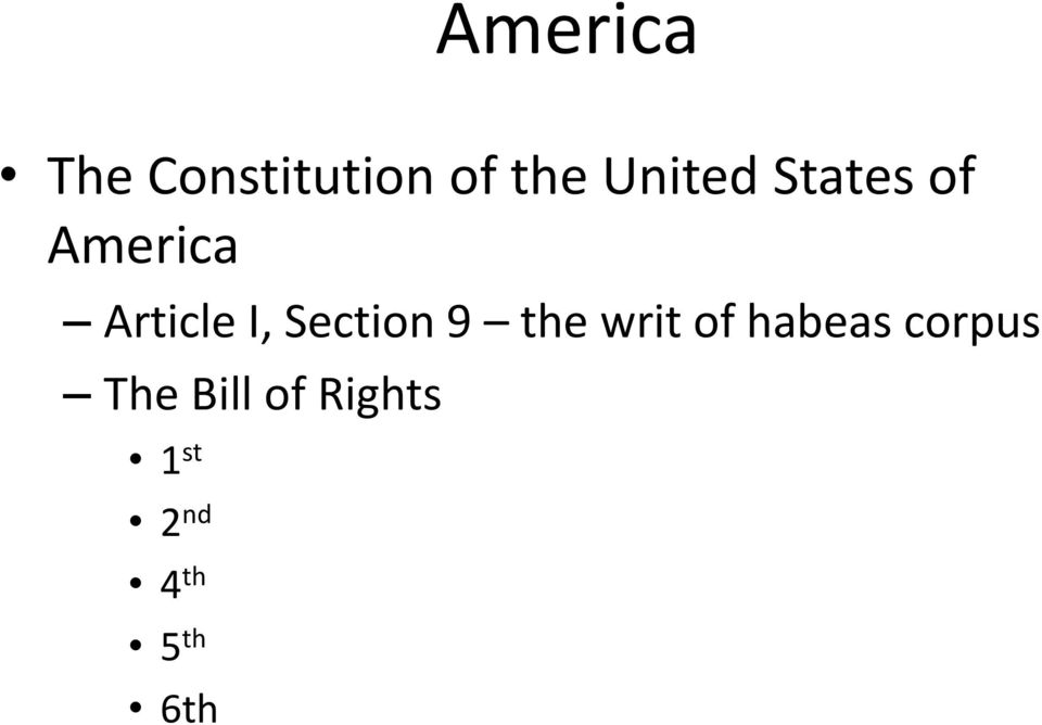 Section 9 the writ of habeas corpus