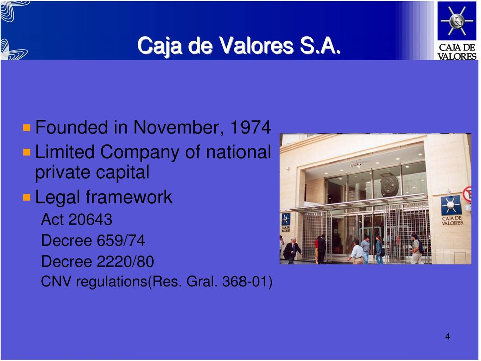 national private capital Legal framework Act