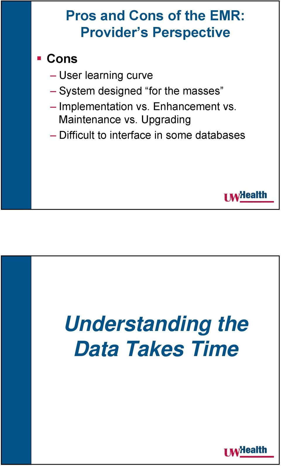 Implementation vs. Enhancement vs. Maintenance vs.