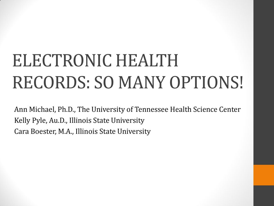 , The University of Tennessee Health Science