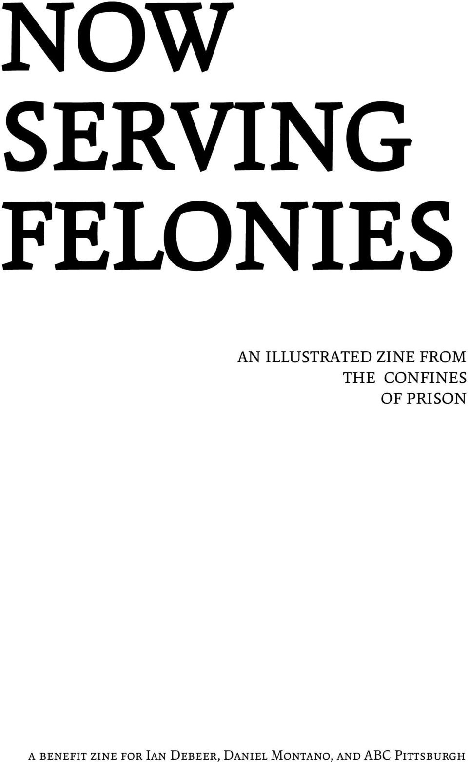 CONFINES OF PRISON a benefit zine