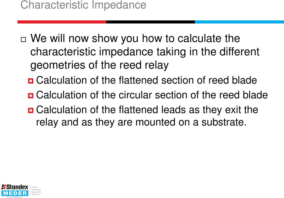 flattened section of reed blade Calculation of the circular section of the reed blade