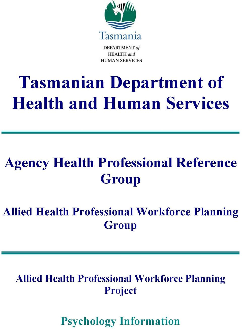 Health Professional Workforce Planning Group Allied