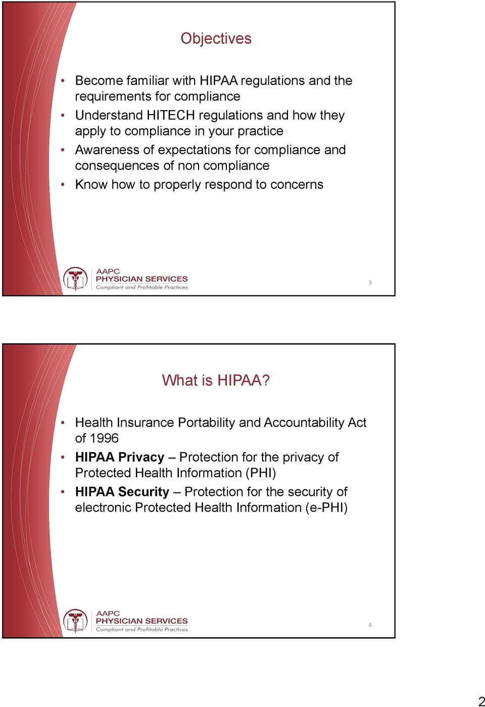respond to concerns 3 What is HIPAA?