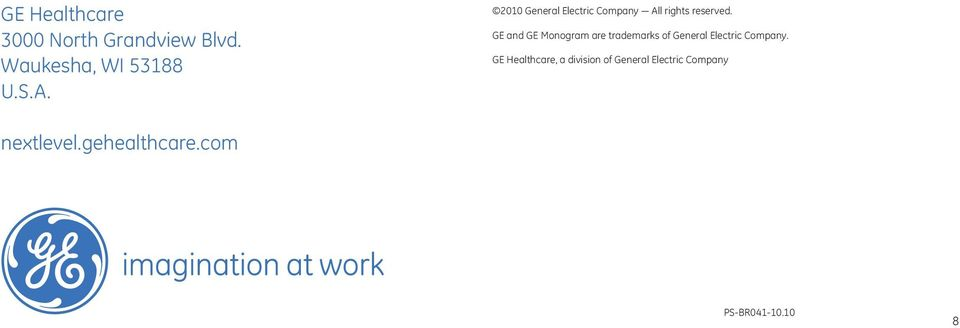 GE and GE Monogram are trademarks of General Electric Company.