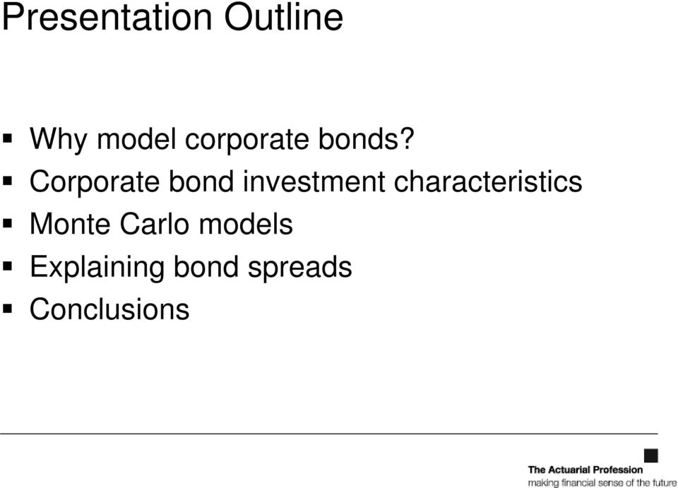 Corporate bond investment