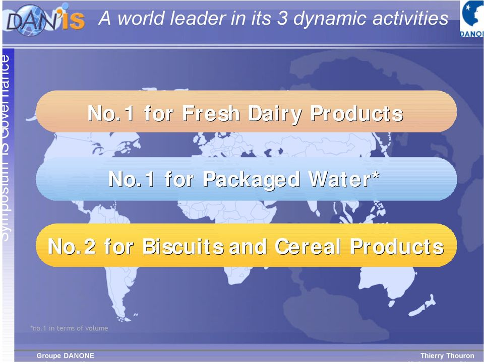 1 for Fresh Dairy Products No.