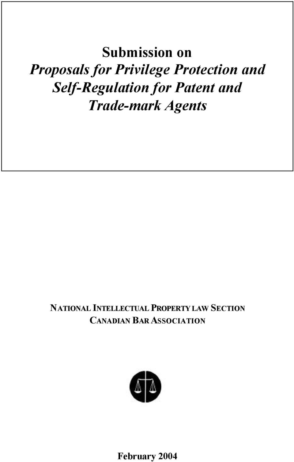 Trade-mark Agents NATIONAL INTELLECTUAL