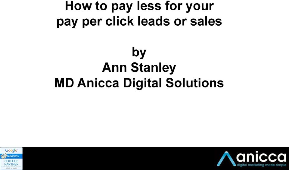 leads or sales by Ann