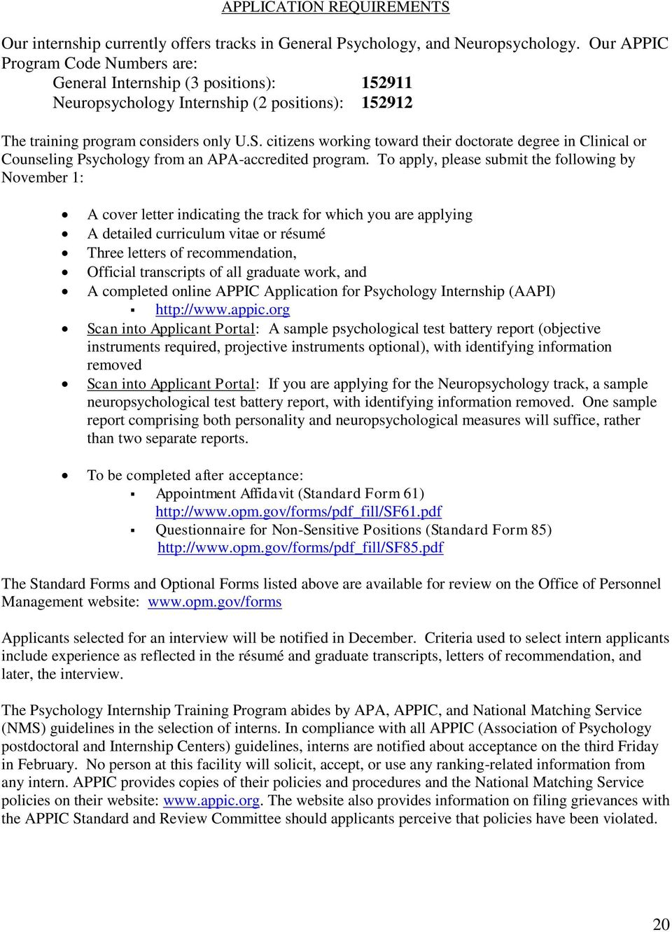 Apa Accredited Internship Program In Professional Psychology Pdf