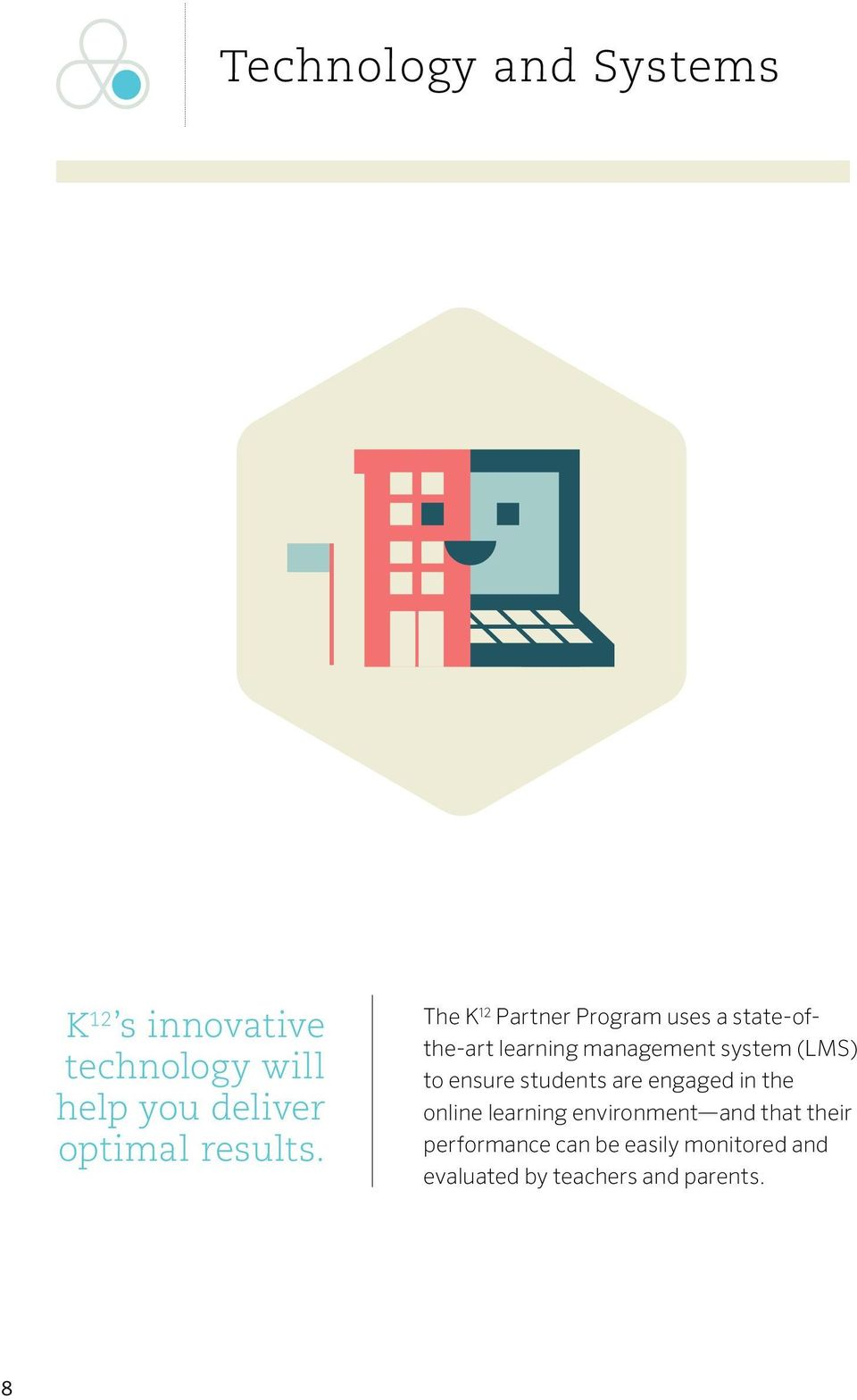 The K 12 Partner Program uses a state-ofthe-art learning management system (LMS)