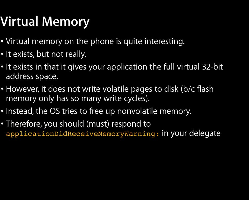 However, it does not write volatile pages to disk (b/c flash memory only has so many write cycles).