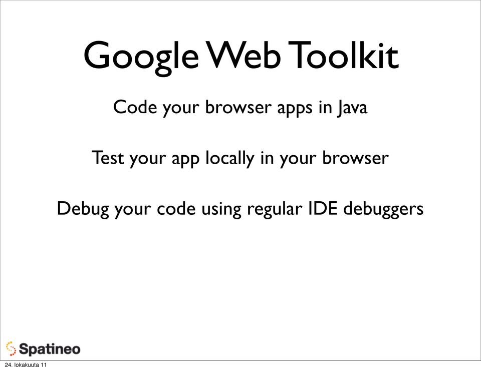app locally in your browser