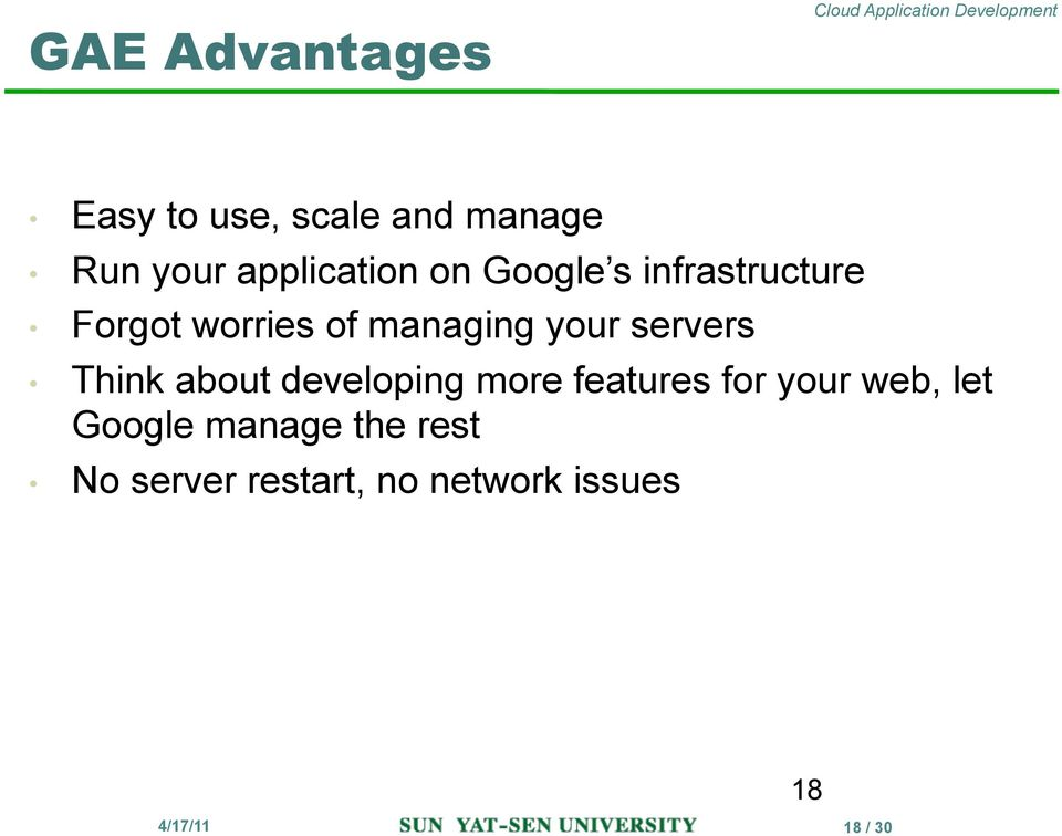 managing your servers Think about developing more features for