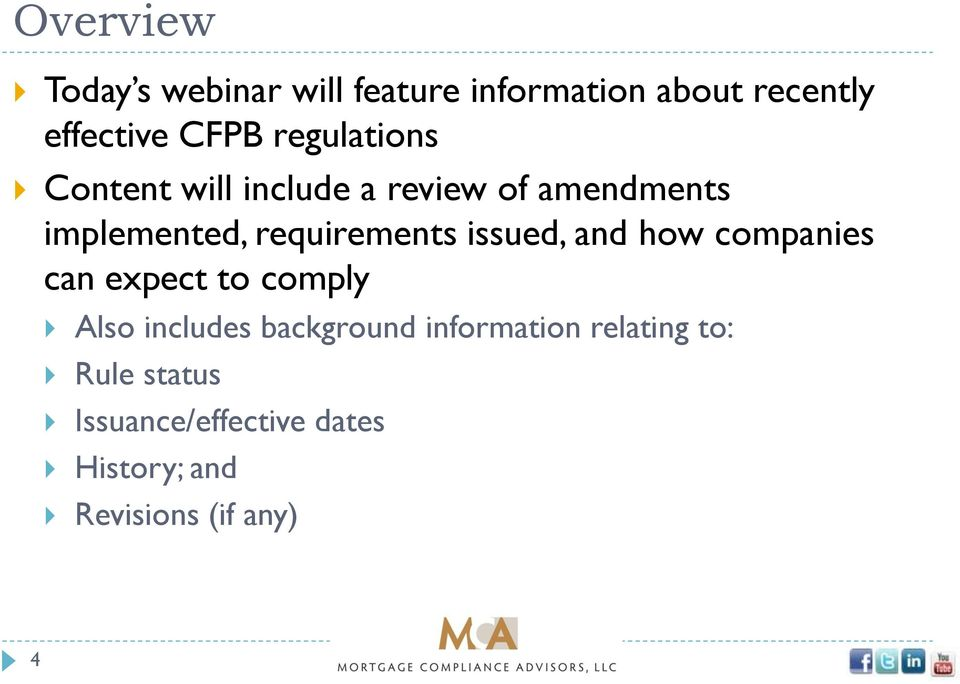 issued, and how companies can expect to comply Also includes background