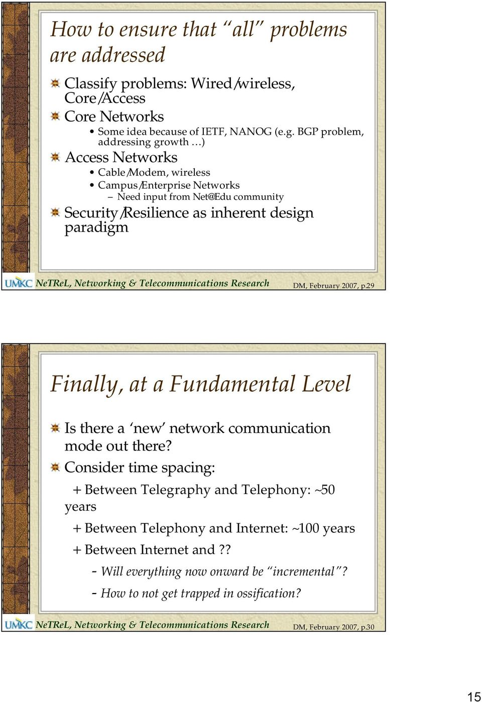 paradigm DM, February 2007, p.29 Finally, at a Fundamental Level Is there a new network communication mode out there?