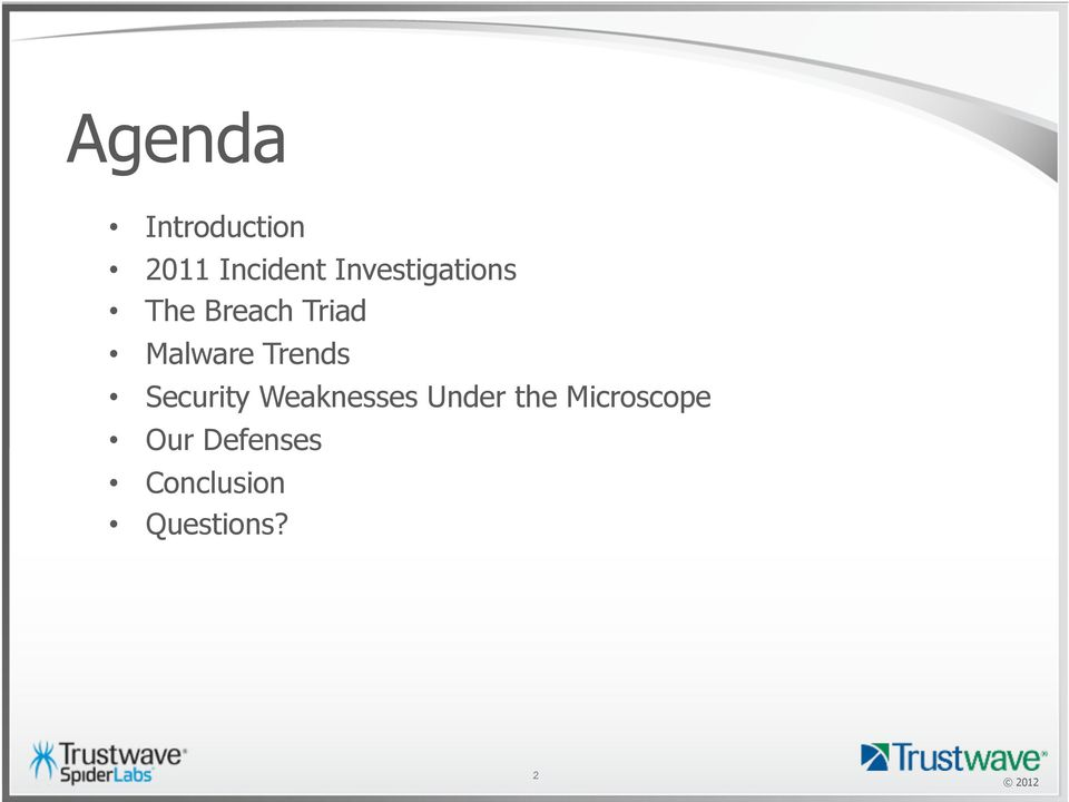 Trends Security Weaknesses Under the