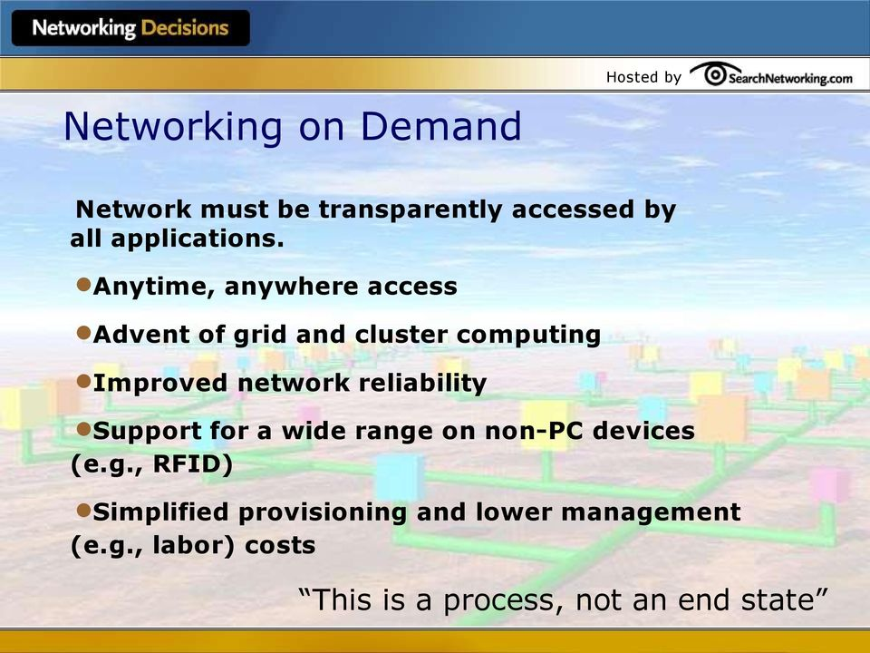 Anytime, anywhere access Advent of grid and cluster computing Improved network