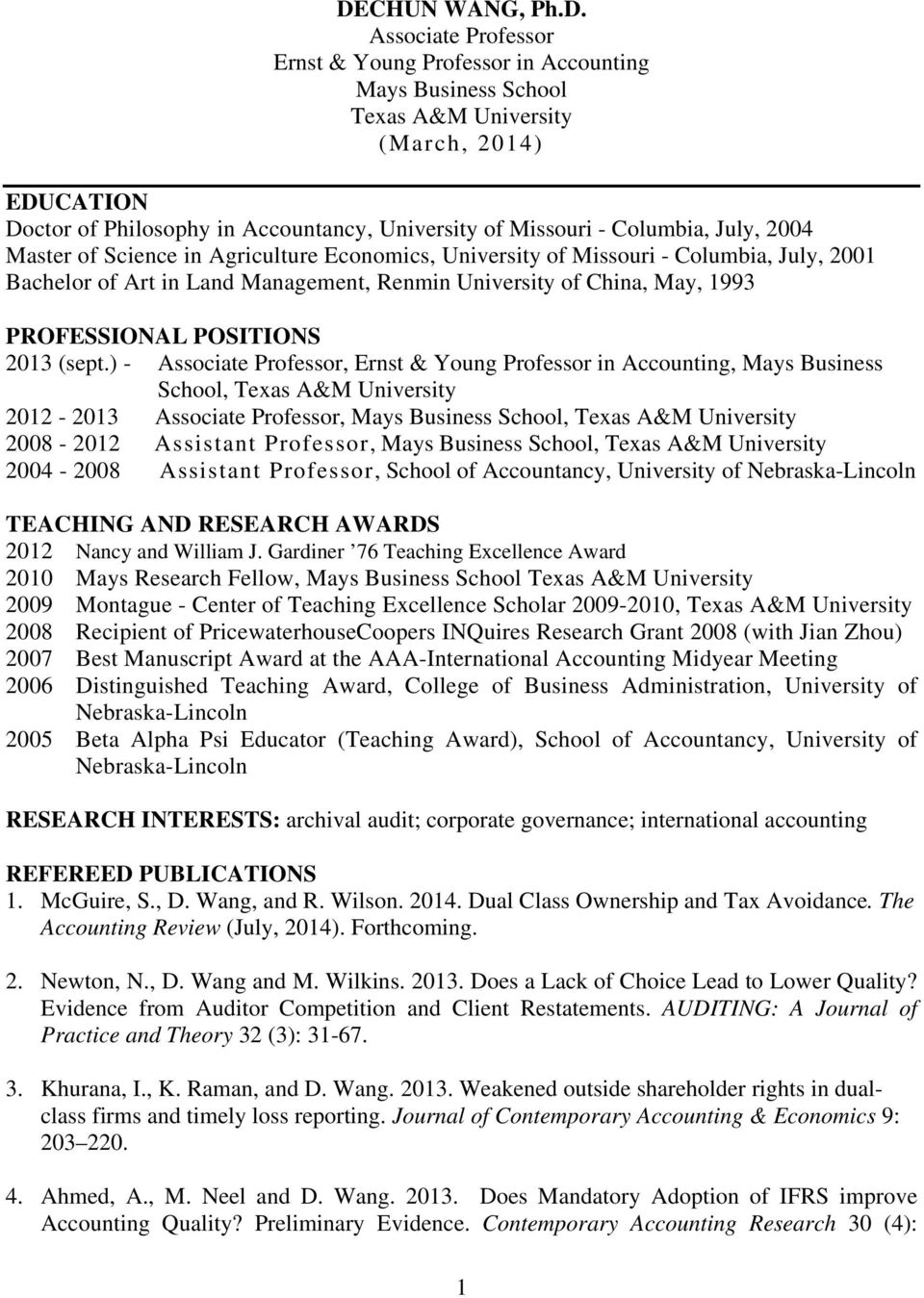PROFESSIONAL POSITIONS 2013 (sept.