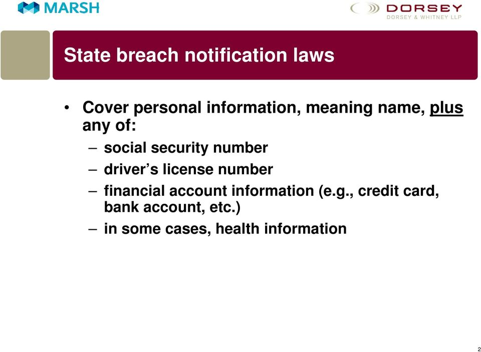 license number financial account information (e.g.
