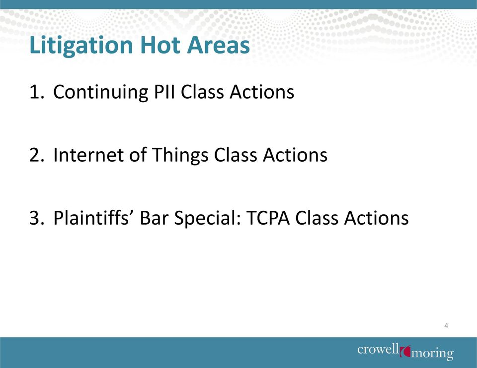Internet of Things Class Actions