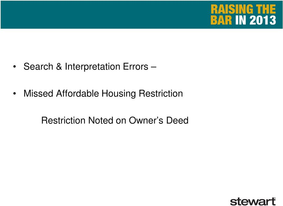 Housing Restriction