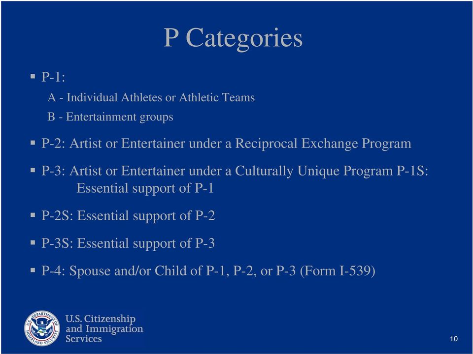 a Culturally Unique Program P-1S: Essential support of P-1 P-2S: Essential support of P-2