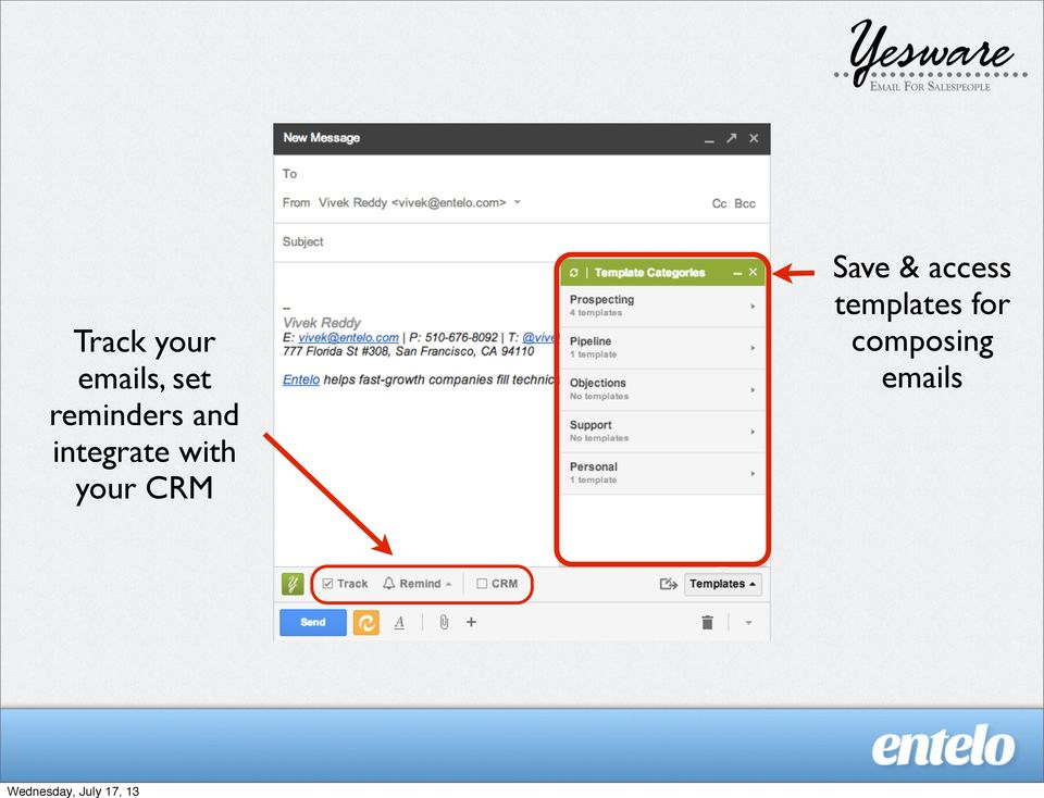 with your CRM Save &