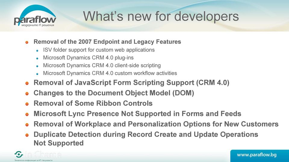 0 custom workflow activities Removal of JavaScript Form Scripting Support (CRM 4.