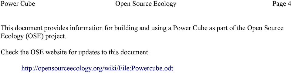 Open Source Ecology (OSE) project.