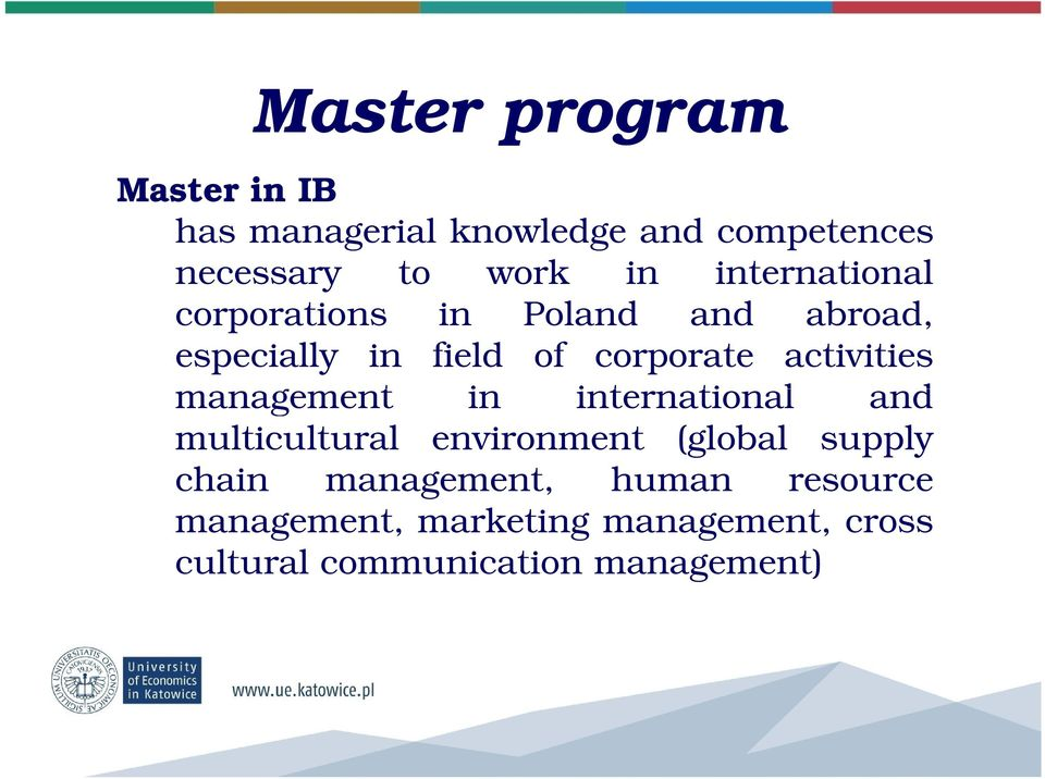 activities management in international and multicultural environment (global supply chain