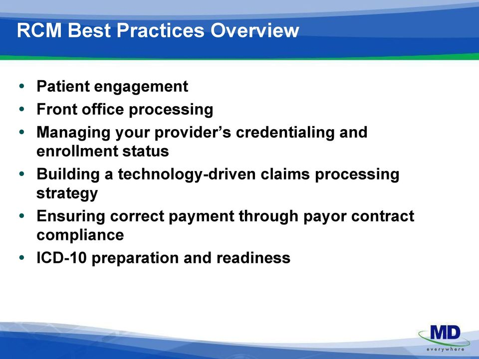 status Building a technology-driven claims processing strategy