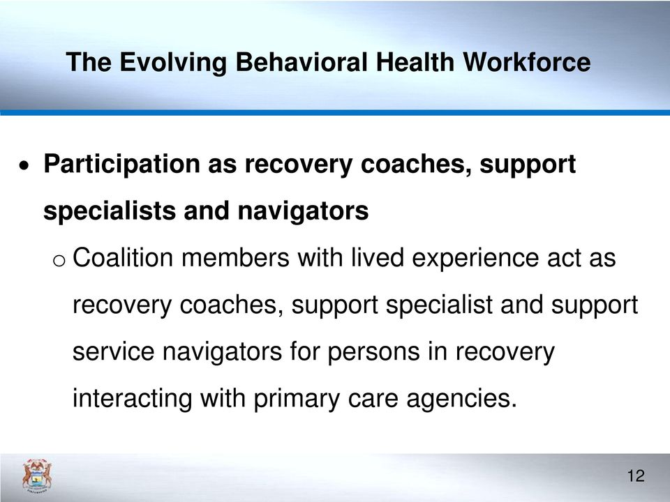 recovery coaches, support specialist and support service