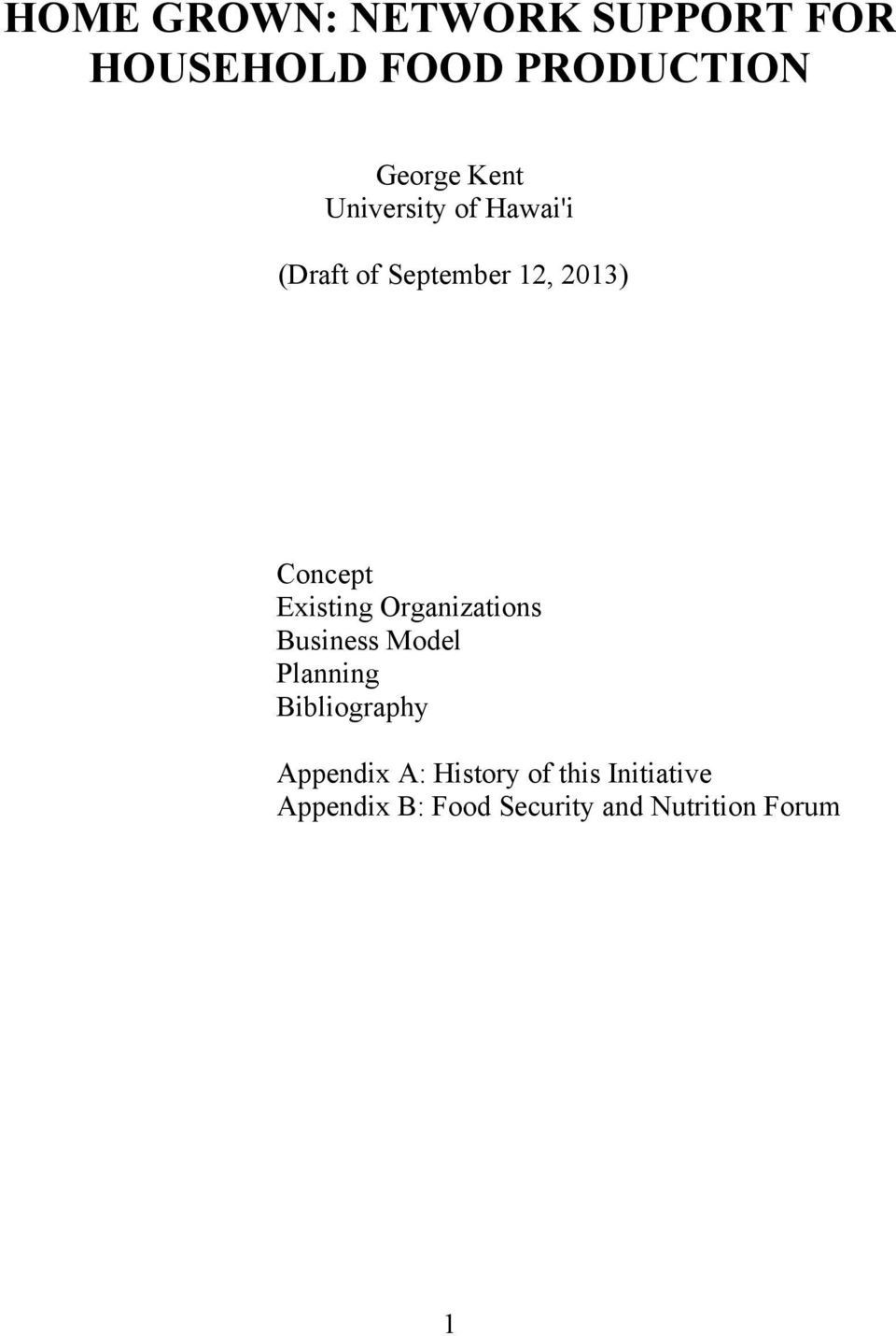 Existing Organizations Business Model Planning Bibliography Appendix