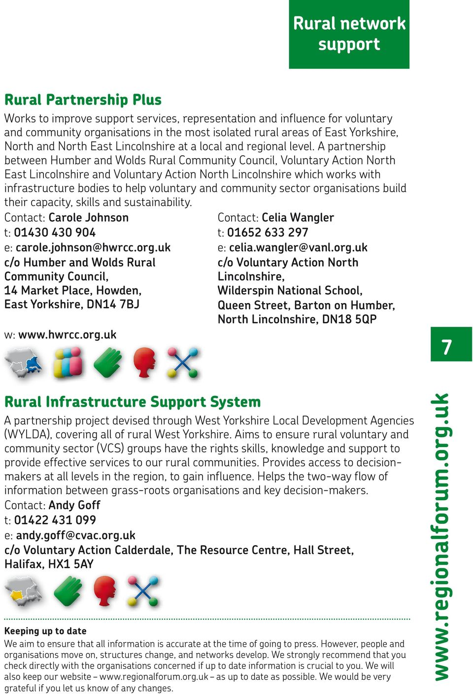 A partnership between Humber and Wolds Rural Community Council, Voluntary Action North East Lincolnshire and Voluntary Action North Lincolnshire which works with infrastructure bodies to help