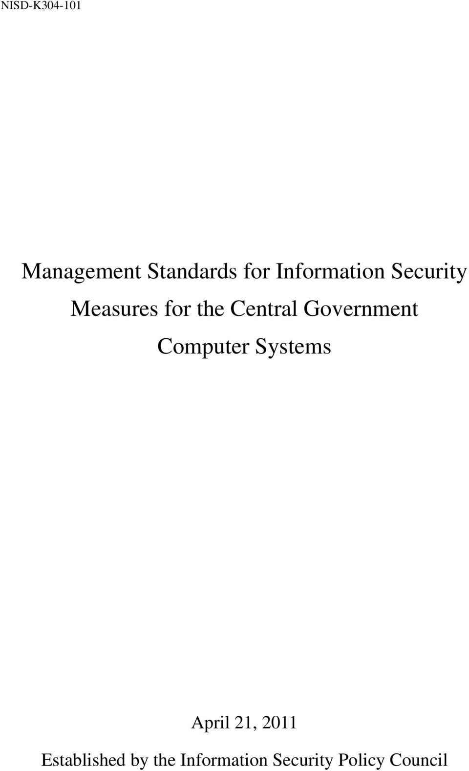 Government Computer Systems April 21,