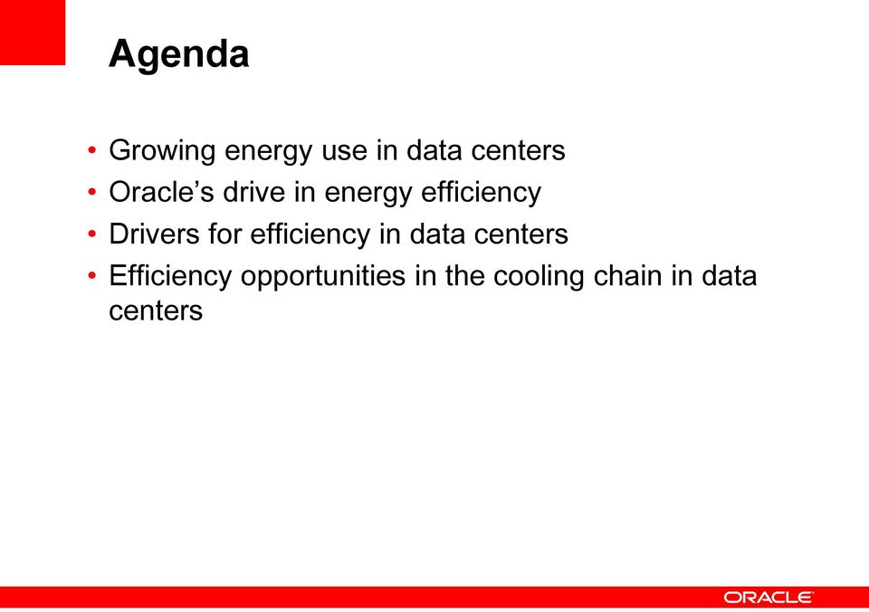 for efficiency in data centers Efficiency