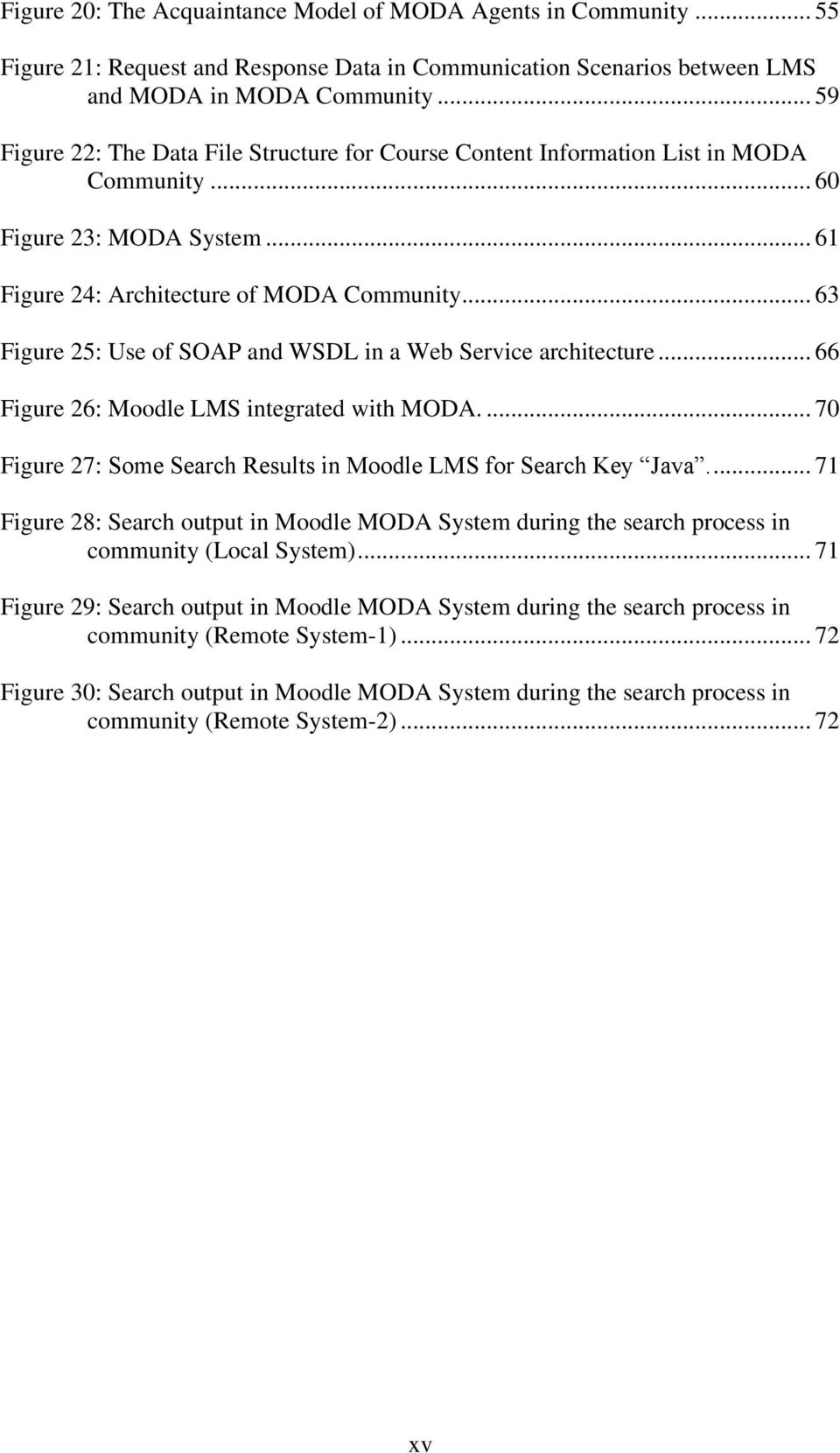 .. 63 Figure 25: Use of SOAP and WSDL in a Web Service architecture... 66 Figure 26: Moodle LMS integrated with MODA.... 70 Figure 27: Some Search Results in Moodle LMS for Search Key Java.