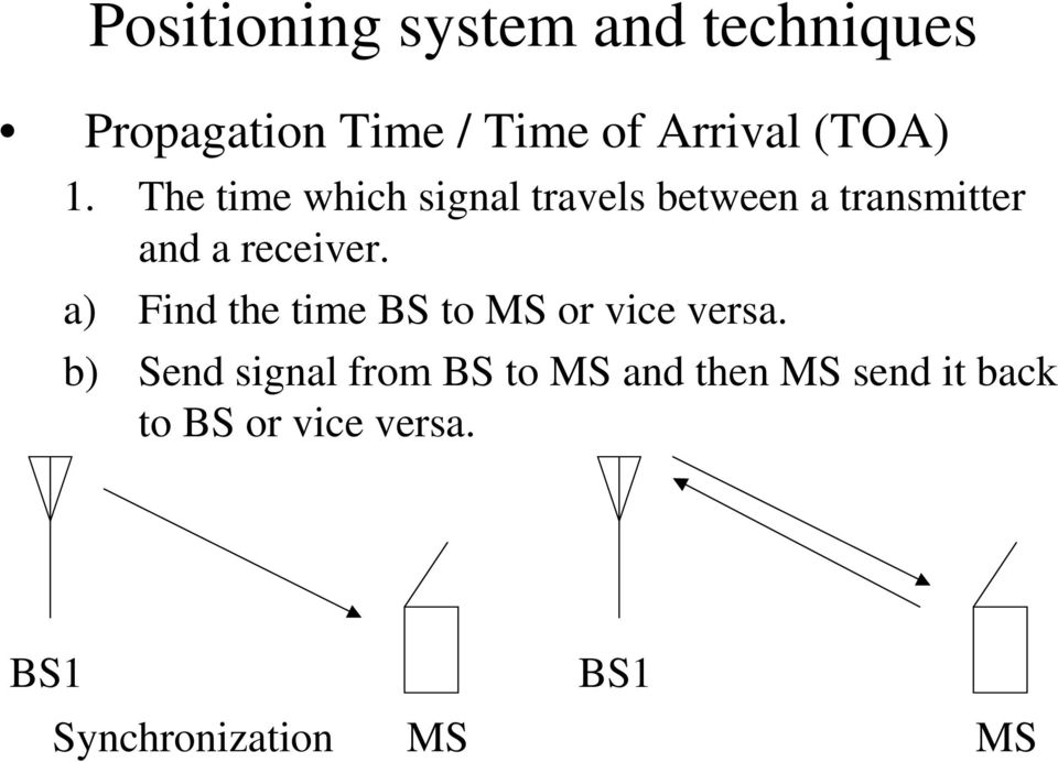The time which signal travels between a transmitter and a receiver.