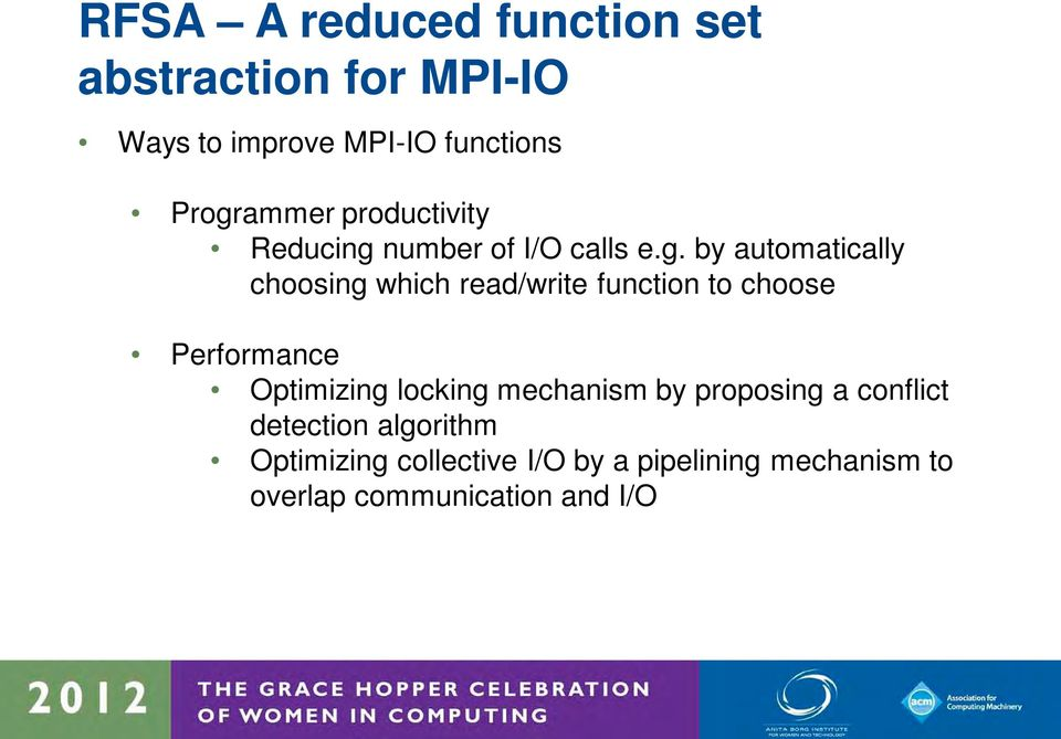 read/write function to choose Performance Optimizing locking mechanism by proposing a