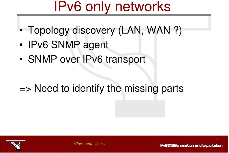 ) IPv6 SNMP agent SNMP over IPv6