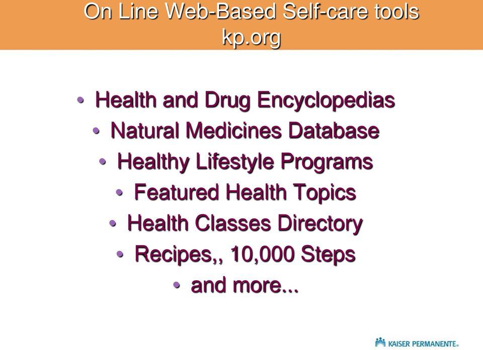 Database Healthy Lifestyle Programs Featured Health