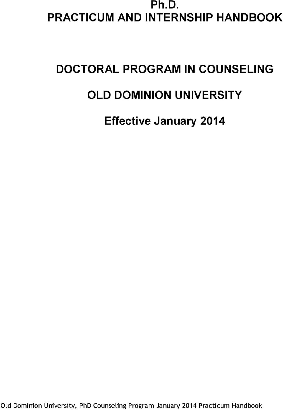 PROGRAM IN COUNSELING OLD