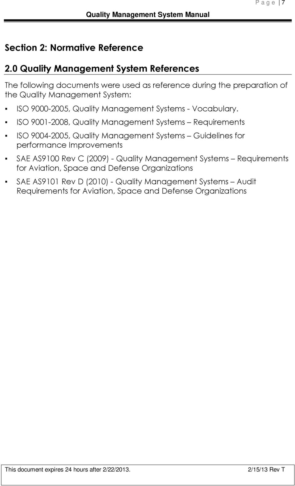 9000-2005, Quality Management Systems - Vocabulary.