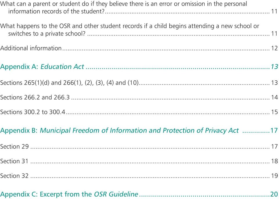 .. 12 Appendix A: Education Act...13 Sections 265(1)(d) and 266(1), (2), (3), (4)