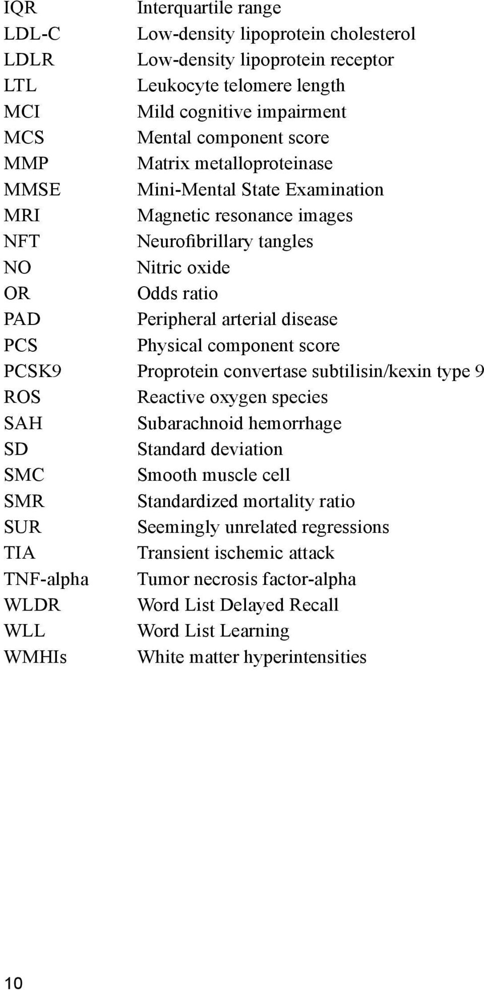 component score PCSK9 Proprotein convertase subtilisin/kexin type 9 ROS Reactive oxygen species SAH Subarachnoid hemorrhage SD Standard deviation SMC Smooth muscle cell SMR Standardized mortality