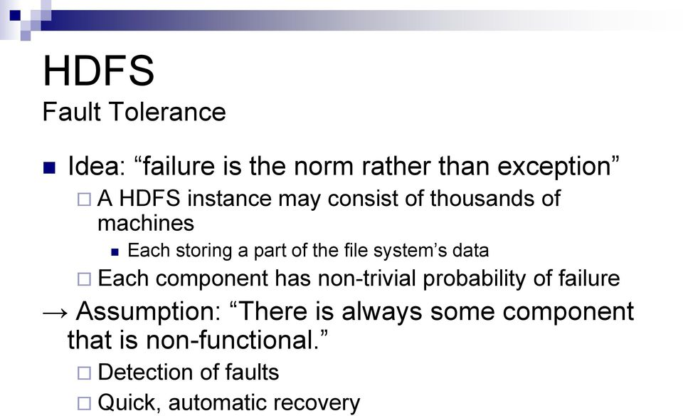 system s data Each component has non-trivial probability of failure Assumption: